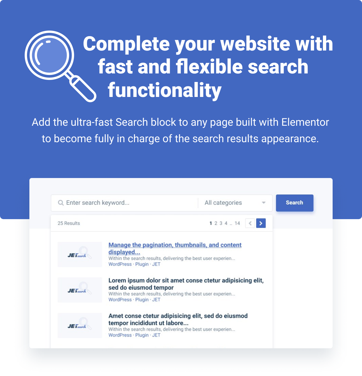 JetSearch — An ultra-fast AJAX Search widget for Elementor - 1